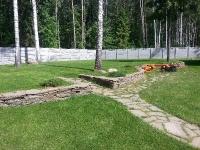 Подпорная стенка из природного камня